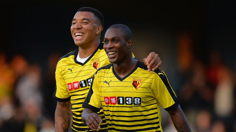 Odion Ighalo (R) and Troy Deeney (L) have formed a potent partnership up front for Watford