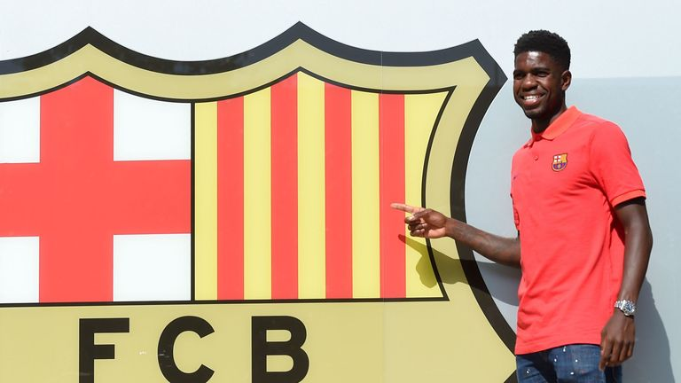 Umtiti has signed a five-year deal at Barcelona