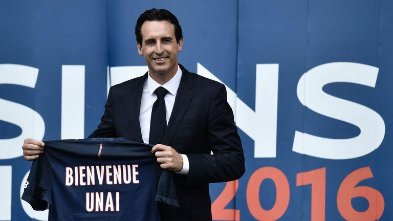 Paris Saint-Germain's new coach Unai Emery