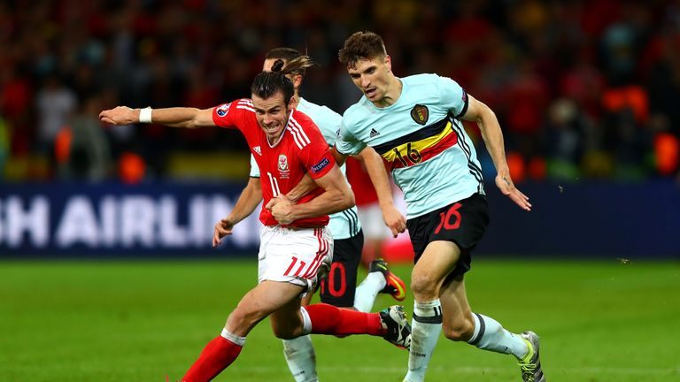 Meunier featured for Belgium against Wales on Saturday