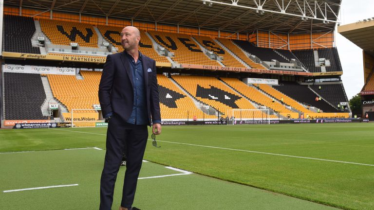 WOLVERHAMPTON, ENGLAND - JULY 30: Walter Zenga manager of Wolverhampton Wanderers before the Pre-Season Friendly match between Wolverhampton Wanderers and