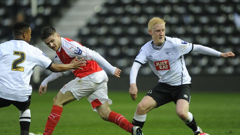 Will Hughes has been linked with Man United. at iPro Stadium on April 11, 2016 in Derby, England.