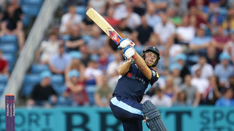 David Willey smashed eight sixes in his 55-ball 118