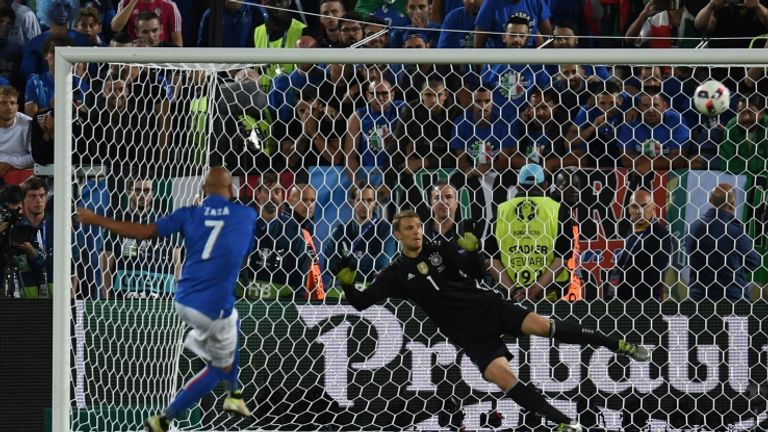Zaza put a penalty over the bar for Italy against Germany at Euro 2016 and was ridiculed for the manner of his miss