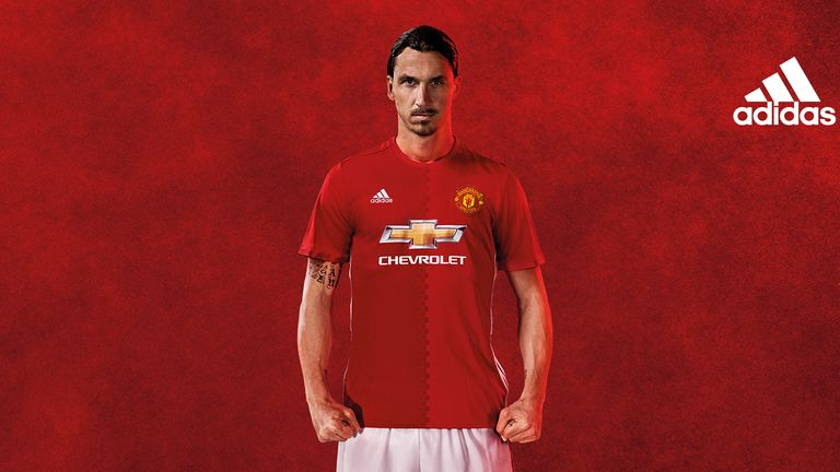 Zlatan Ibrahimovic launches the new Manchester United 2016/17 home kit by adidas