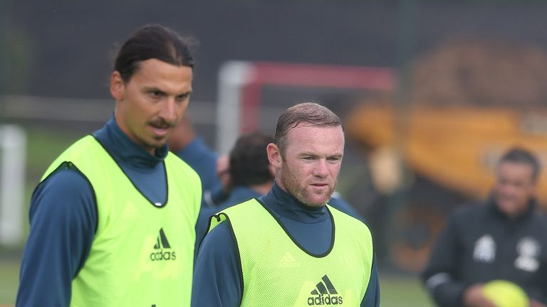 Zlatan Ibrahimovic and Wayne Rooney