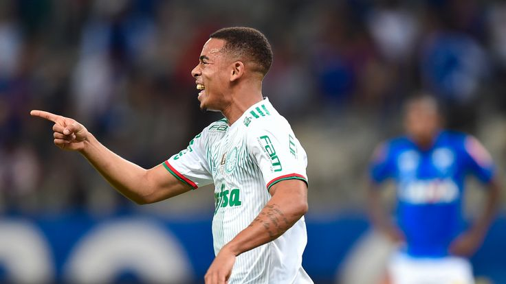 Gabriel Jesus of Palmeiras celebrates