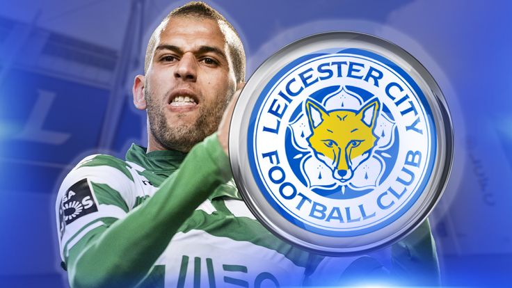 Sporting Lisbon's Algerian striker Islam Slimani is a target for Leicester City