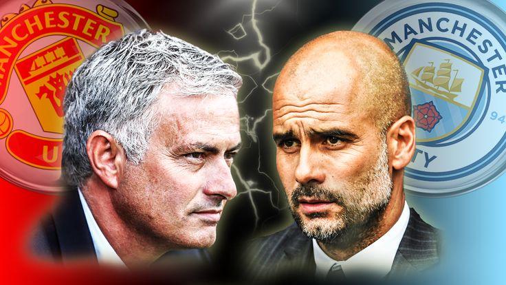 Jose Mourinho/Pep Guardiola Manchester Derby image 16/08/2016