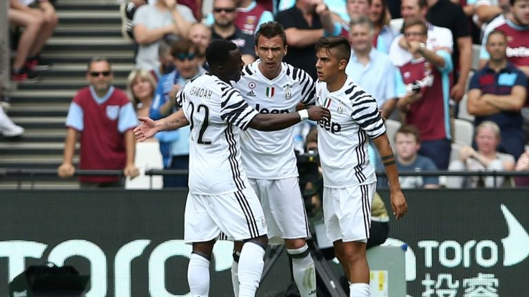 Mandzukic e Dybala a segno contro il West Ham (foto getty)