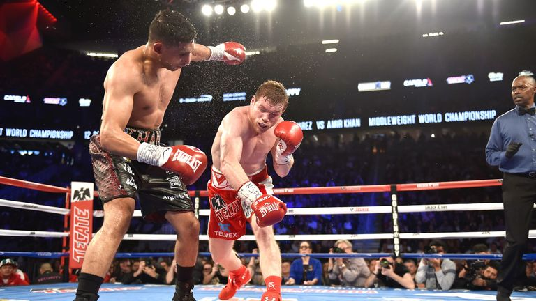 Canelo knocked out Amir Khan