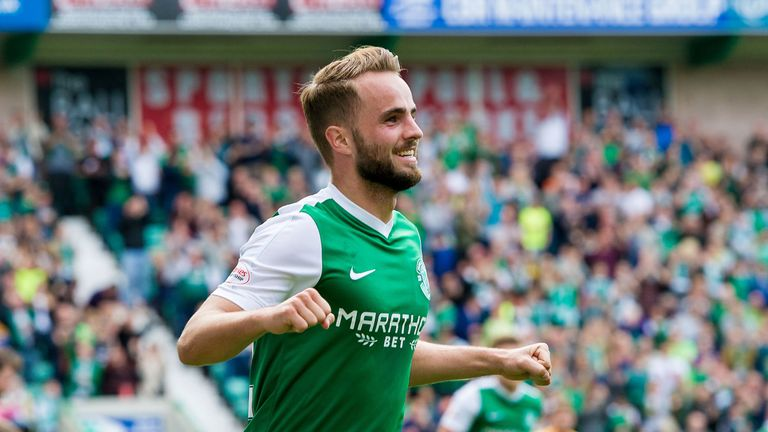 Andrew Shinnie spent last season on loan at Hibernian