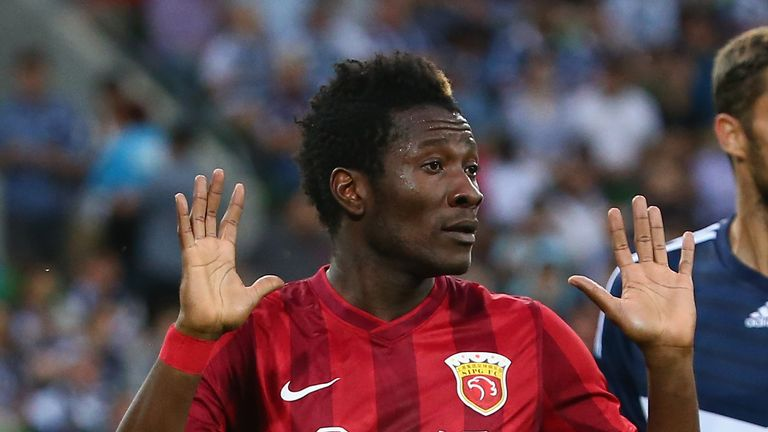 Asamoah Gyan is currently playing for Shanghai SIPG