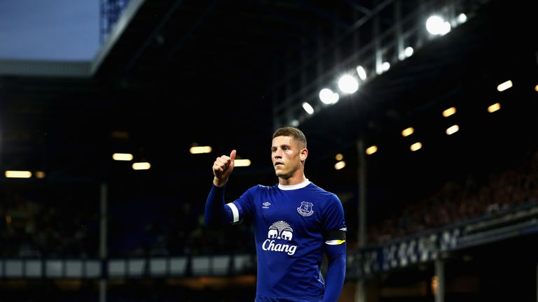 Ross Barkley captained Everton for the EFL Cup tie