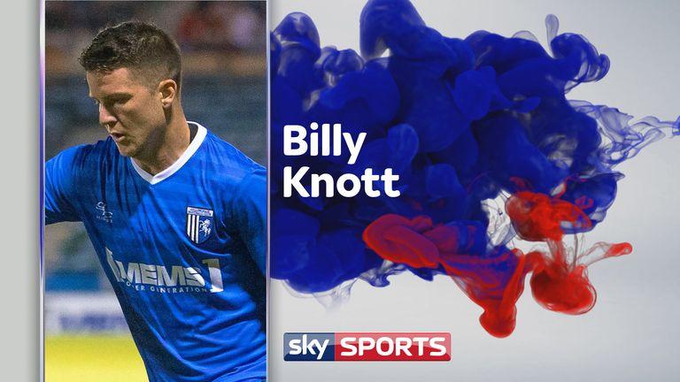 Billy Knott enjoying it at Gillingham [Original image courtesy of Kent Pro Images]