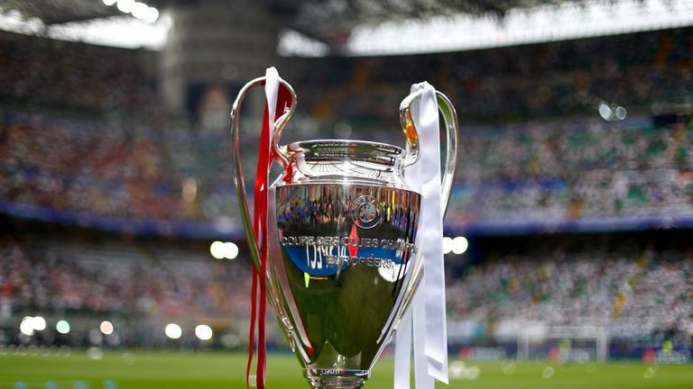 Europe's top teams compete for the Champions League trophy