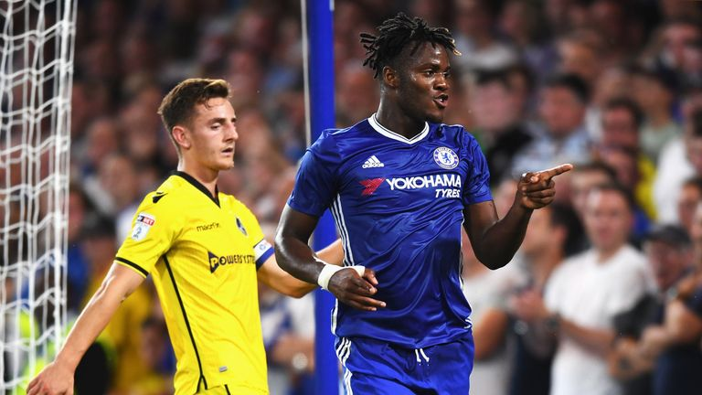 Michy Batshuayi scored twice in an entertaining five-goal game against Bristol Rovers