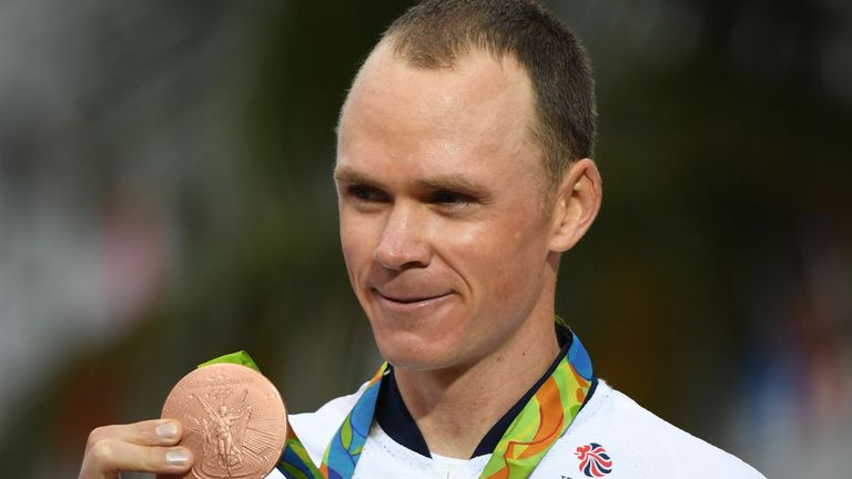 Chris Froome was pleased with his bronze in the time-trial