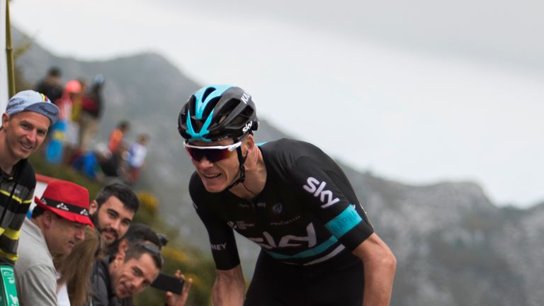 Froome is having to ride the Vuelta at his own pace