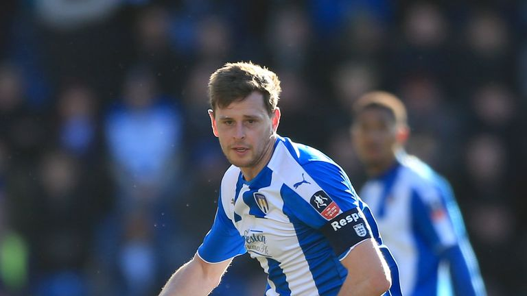 Colchester United's Chris Porter during the Emirates FA Cup, fourth round match v Tottenham at the Weston Homes Community Stadium, January 2016