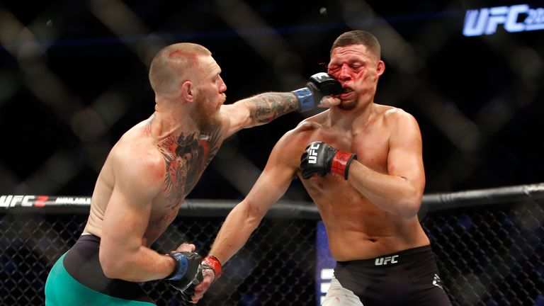 Conor McGregor beat Nate Diaz in their rematch at UFC 202