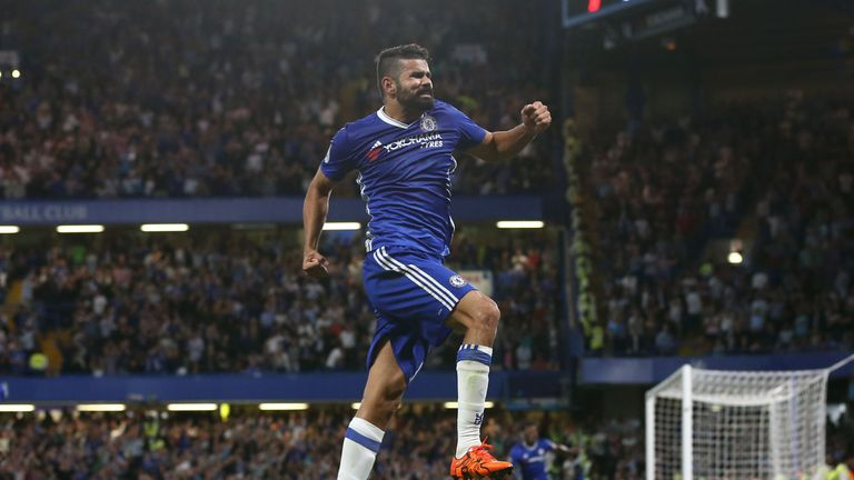 Diego Costa celebrates Chelsea's winner