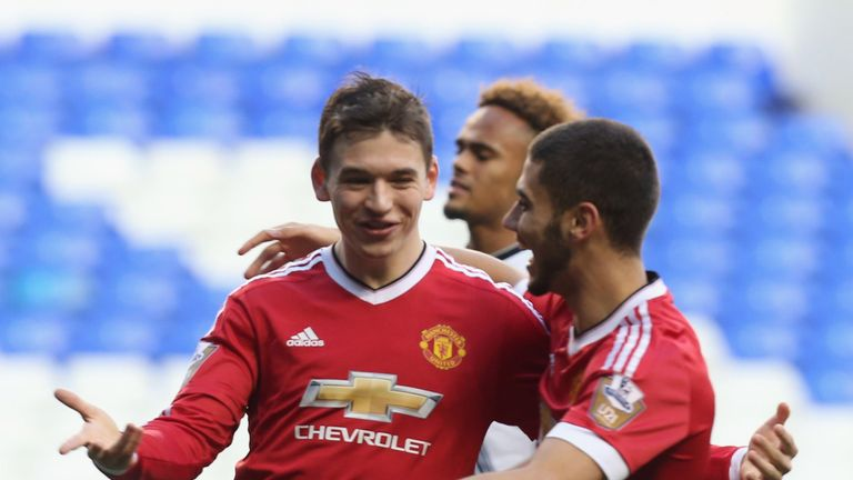Love made just two first-team appearances for Man United