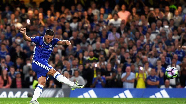Hazard's thunderous penalty gave Chelsea the lead at Stamford Bridge