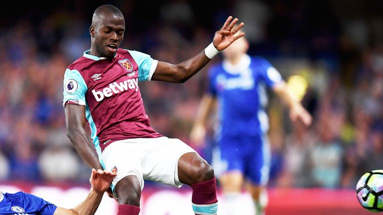 Enner Valencia in action for West Ham against Chelsea
