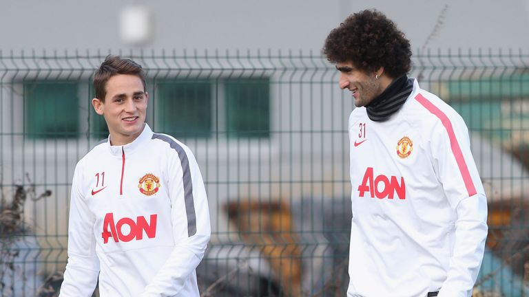 <<enter caption here>> at Aon Training Complex on January 9, 2015 in Manchester, England.