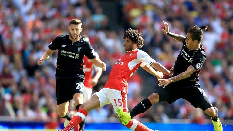 Wenger has also praised Xhaka's team-mate Mohamed Elneny (centre)