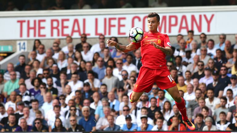 Philippe Coutinho in action at White Hart Lane