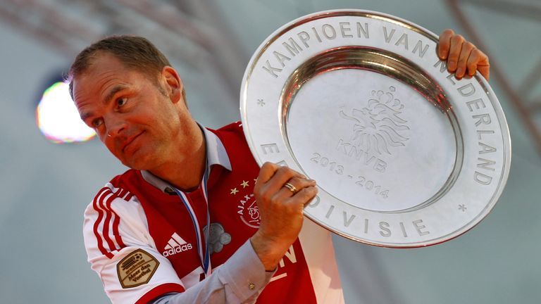 De Boer won four Eredivisie titles as Ajax manager before resigning in 2016 after losing out to PSV for the past two seasons