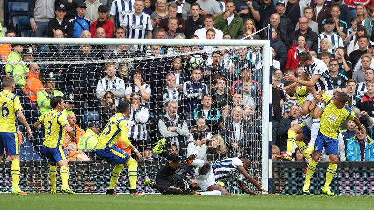 Gareth McAuley scored the opener for West Brom, heading home inside ten minutes