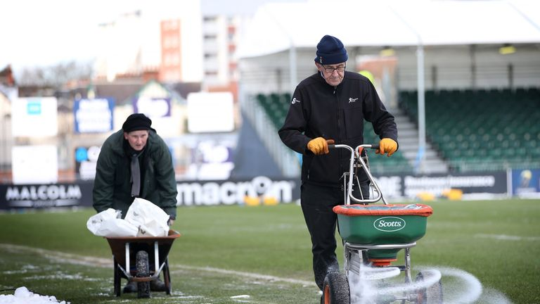 An artificial surface has been laid at Scotstoun stadium to help solve their on-going pitch issues