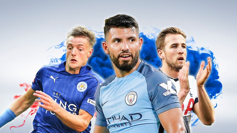 Lukaku believes he can beat the likes of Jamie Vardy (L), Sergio Aguero (C) and Harry Kane (R) to win the Premier League Golden Boot