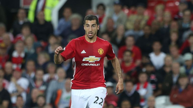 Henrikh Mkhitaryan in action for Manchester United against Southampton