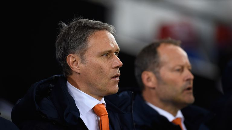 Marco van Basten has quit his role as Danny Blind's (right) assistant