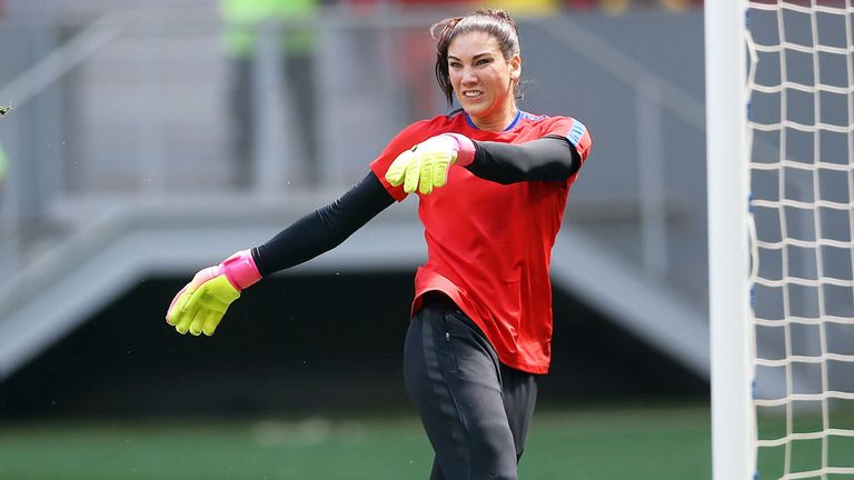 4625e0f42 USA star Hope Solo banned for six months for calling Swedes  cowards ...