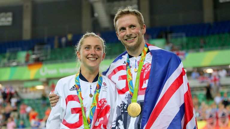 Great Britain's Jason Kenny won gold as did fiancee Laura Trott who won gold in the omnium