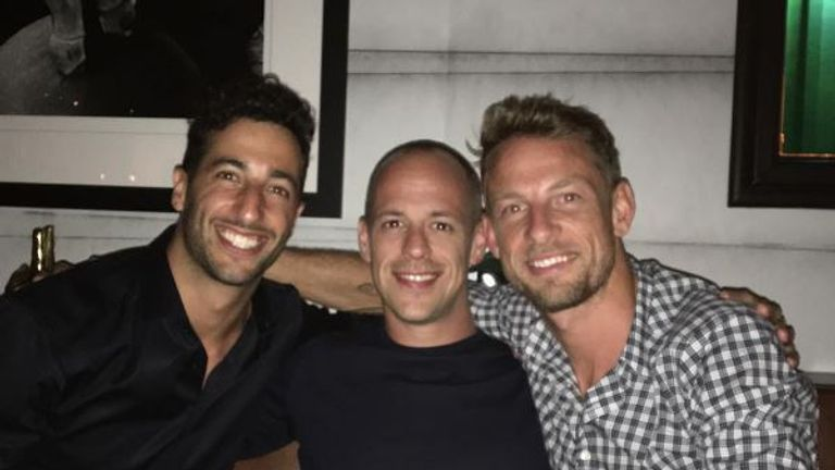 Jenson Button & Daniel Ricciardo in the US: 'Staying hydrated with Ricky Bobby!'