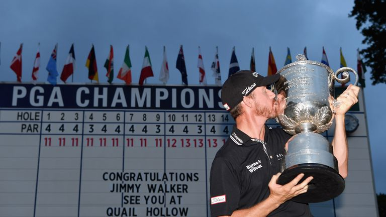 Jimmy Walker became the fifth first-time major winner in a row at Baltusrol