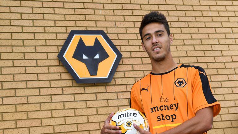 Joao Teixeira of Wolverhampton Wanderers at Molineux on August 1, 2016 in Wolverhampton, England