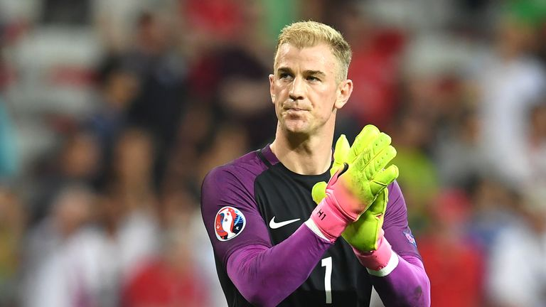 Joe Hart acknowledges the after Enfland lose 2-1 to Iceland at Euro 2016