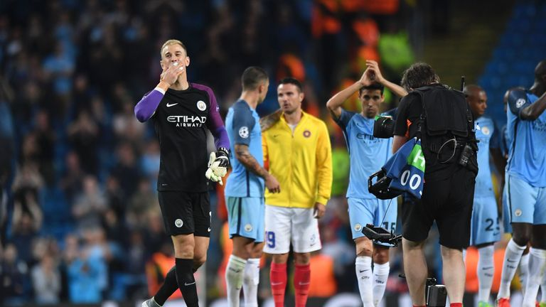 Hart blew kisses to the crowd against Steaua Bucharest in midweek