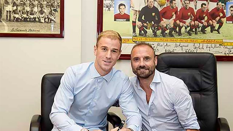 Hart signed for Serie A club Torino on a season-long loan deal