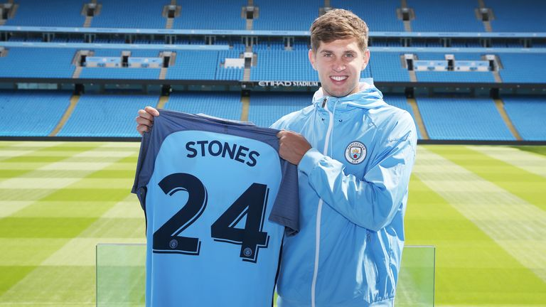 John Stones was one of Pep Guadriola's new signings in the summer
