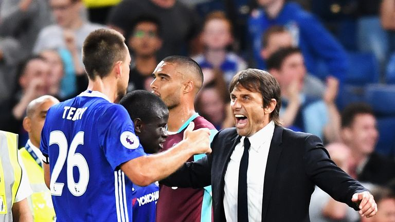 Conte admits it is difficult to change a winning team, which could see John Terry remain on the bench for the match against Everton