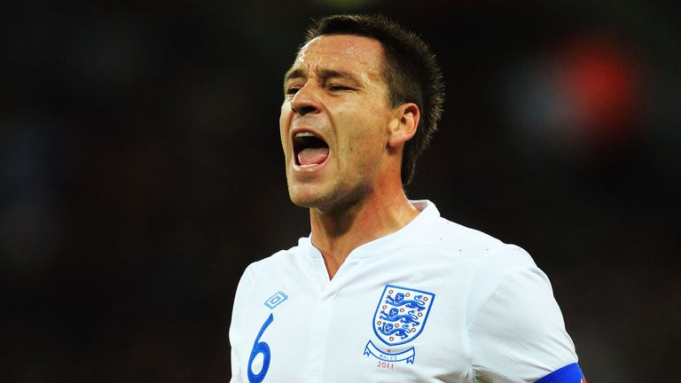 John Terry playing for England during a Euro 2012 qualifier v Wales