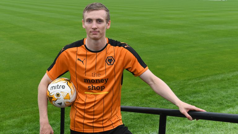 New signing, Jon Dadi Bodvarsson of Wolverhampton Wanderers and Iceland, at Molineux on August 1, 2016 in Wolverhampton